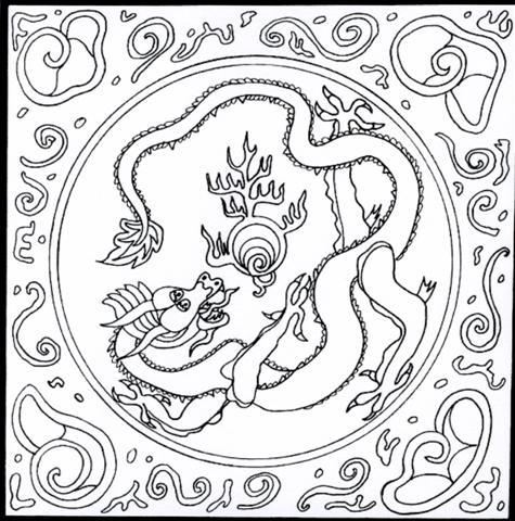 Le coin des enfants dessins - Dessins dragons chinois ...